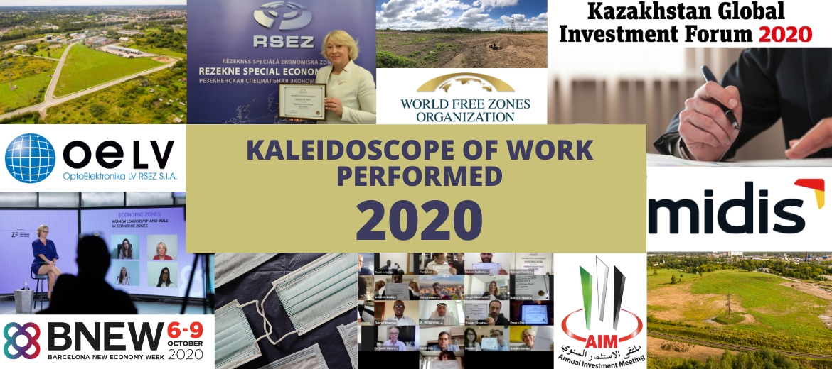 Rezekne SEZ kaleidoscope of work performed in 2020