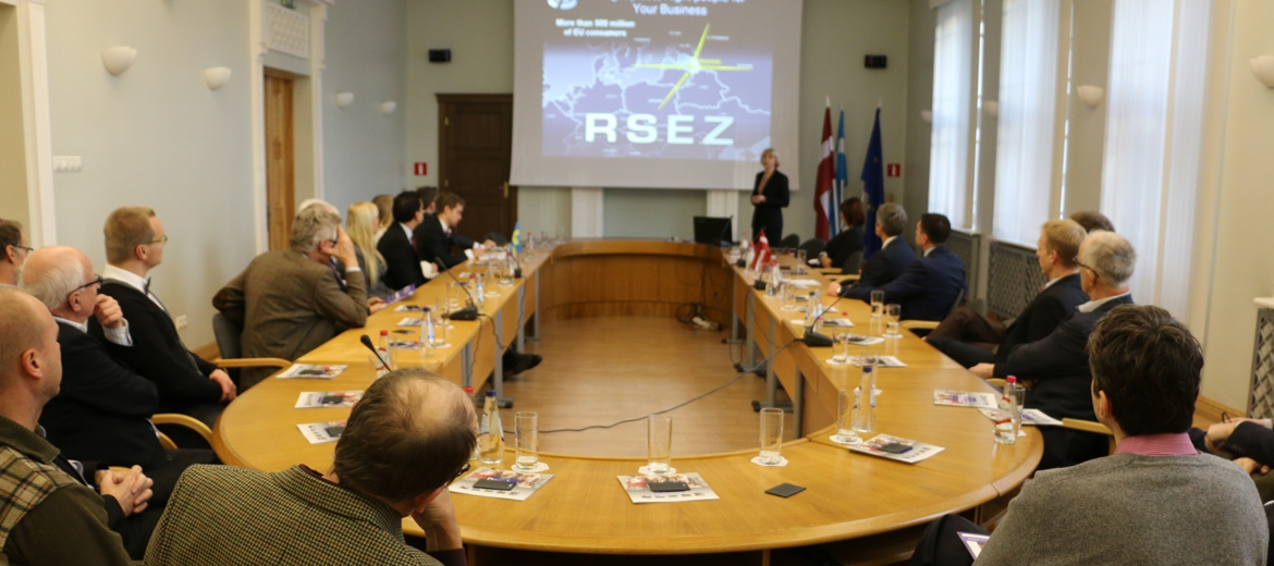 "The Ambassador of Sweden meets the management of RSEZ and visits ""LEAX Rēzekne"""