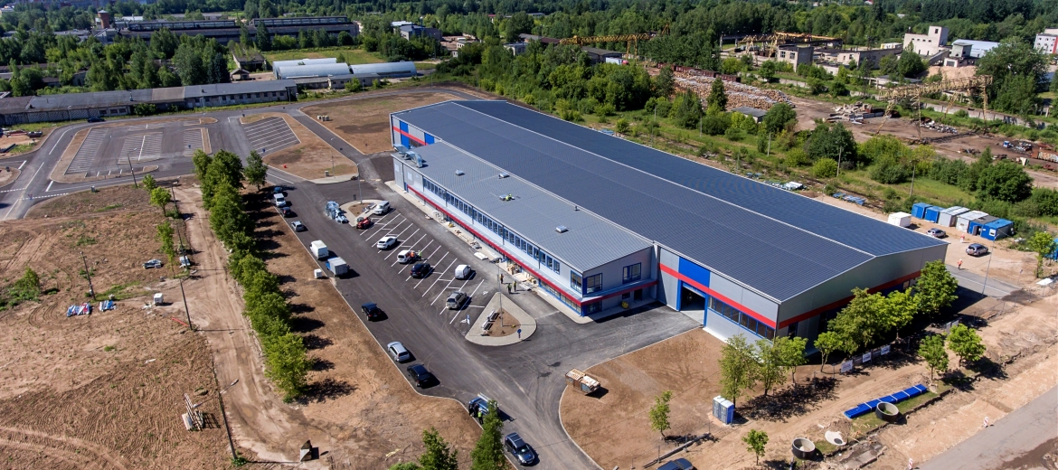 Lease right auction at attractive price offers a new production building on the territory of Rezekne SEZ